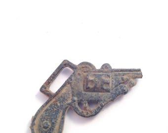 On Sale Antique Pistol Revolver Charm Pendant Game Piece