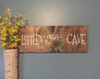 Little Man Cave Custom Painted Sign
