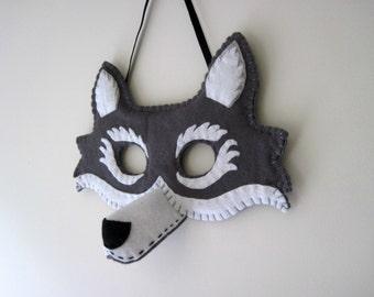 Felt Wolf Mask - Dressing Up Costume, Fancy Dress Costume Little Red Riding Hood