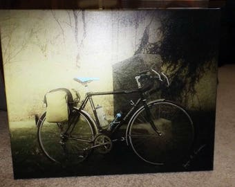 Classic Bicycle In A Graveyard