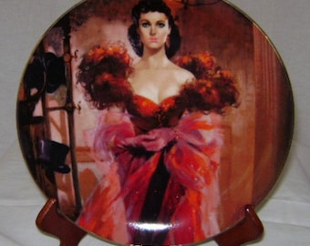 """Gone with the Wind Golden Anniversary """"Scarlett's Resolve"""" Commemorative Plate"""