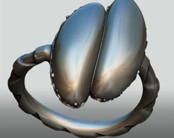 Silberring Coco de mer  – Silberring, Geschenk, Erotikring, Yoni, Vulva, Weiblichkeit