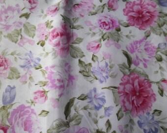 50 x 100 cm 1 fabric cotton patchwork white flower