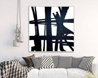 Large Abstract Print, Abstract Art, Black And White Print, Minimalist Art, Giclee Print, Home Decor, Wall Decor, Wall Art