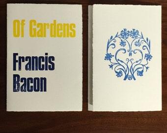 Francis Bacon – OF GARDEN-Artist's Book Letterpress