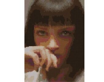 Uma Thurman portrait counted Cross Stitch Pattern Pulp Fiction