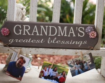Grandma's Greatest Blessings Sign