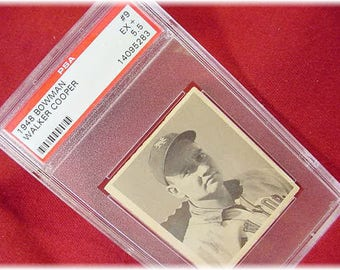 1948 Bowman - Walker Cooper Baseball Card - Authentic Rare #9 PSA Ex + 5.5 - New York Giants # 1 Catcher - Sports + FREE SHIPPING