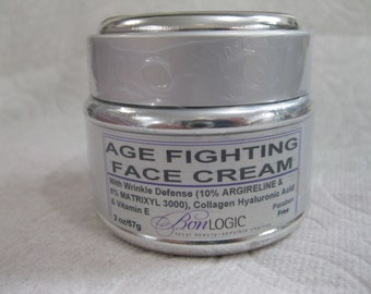 Age Fighting Face Cream FREE US SHIPPING with Matrixyl 3000, Argireline,Hyaluronic acid, Collagen & Vit E by Bon Logic
