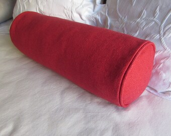 7x20 RED bolster pillow includes insert