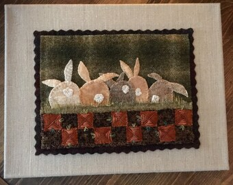 Carrot Patch, Wool Applique Pattern