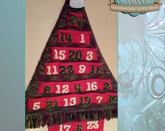 Knitted Christmas Tree Advent Calendar