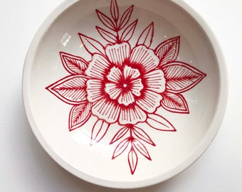 Hand Painted Ceramic Dish