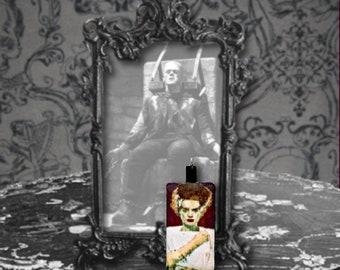 Bride of Frankenstein Polymer Clay Classic Horror Monster Pendant