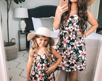 mommy and me outfits, mother daughter matching dresses,mommy and me, matching outfits, girl summer