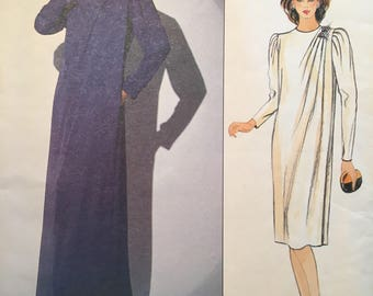 Vogue 1117 UNCUT vintage pattern Misses' Dress Size 10 early 1980s Jerry Silverman American Designer Pattern