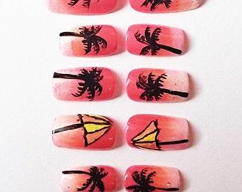 Summer Hawaii nails