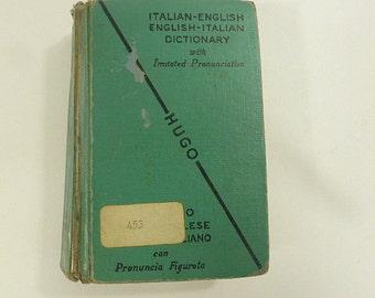 Se Inglese Vintage Italian-English, English Italian Dictionary Pocket Mini Paper Ephemera Italian Words, Vocabulary Molto Bene Grazie