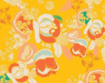 CLEARANCE: Meadow Bright by Art Gallery Fabric , pink floral fabric, gold floral fabric, orange floral fabric