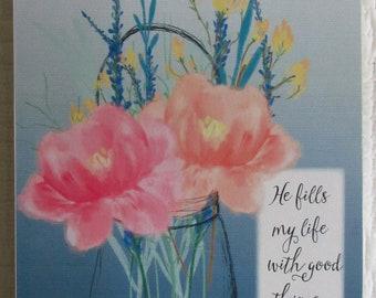 He Fills My Life with Good Things WORD Art, Wall Art, Shelf Art Bible Verse Scripture Psalm 103-5