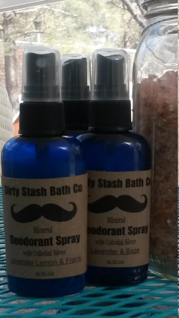 Super Strength Mineral Deodorant Spray with Magnesium & Collodial Silver-Lavender Sage 2 oz