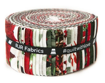 Let It Sparkle Christmas -40, 2.5in x 44in Cotton Strips Jelly Roll By Rjr Fabrics