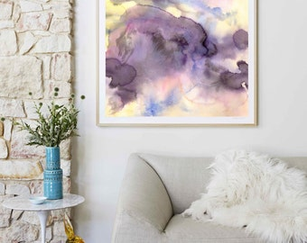 Abstract Watercolor, Abstract Painting Print, Abstract Art, Abstract Wall Art,