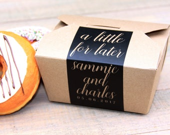 Favor Box, Cake Box, Cookie Box, Doughnut Box, Cake Favor Box, Midnight Snack, To Go Box, Dessert Favor, Dessert Sign, Favor Label