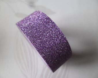 x 5 meters of glittery purple adhesive Ribbon masking tape repositionable 15 mm