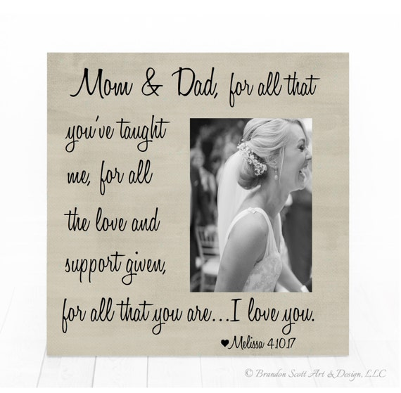 Parents of the Groom Picture Frame Gift For Parents Parents