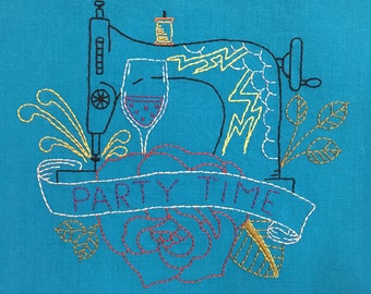 Embroidery Pattern Party Time