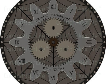 Warhammer 40K Printable Clock Face Black Numerals Digital Image Instant Download