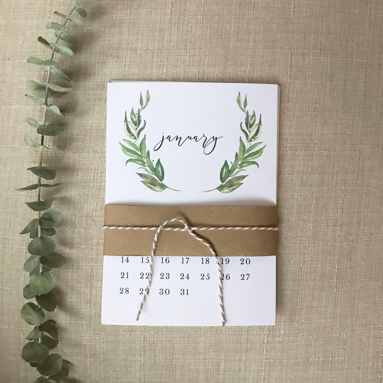 Description 2018 Desk Calendar