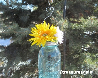 Heart Mason Jar Hanger DIY Hanging Flower Vase Lids with Heart Decor, No Jars
