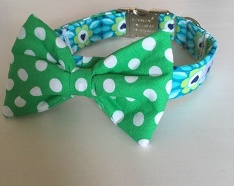 SALE!!! Sparkling Spring Collar and Bow Tie