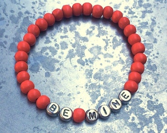 Red Beaded Promise Bracelet//Commitment Bracelet//Promise Bracelet//