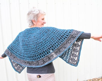 Beginners Crochet Cape Pattern – Country Market Collection – Crochet Cape - Pineapple Crochet – Easy Crochet Pattern