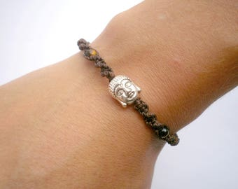 Buddha bracelet boho jewel tiger eye and hematite