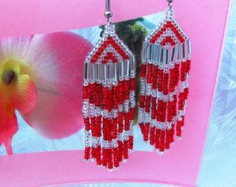 exclusive earring beaded earrings beaded earrings heart beaded heart valentines earring homemade earrings heart earring long beaded earring