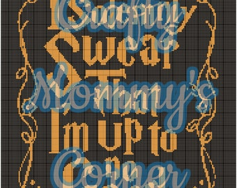 Harry Potter - I Solemnly Swear That I'm up to no Good Graphghan Patter - Crochet Afghan Pattern