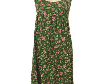 vintage 1970s LANZ floral dress / nightgown loungewear / floral paisley / spring summer / women's vintage dress / tag size medium