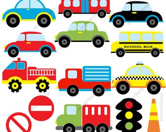 cute cars clipart transportation clip art on the road road rh etsy com transportation clipart border transportation clipart preschool