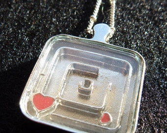 Heart Maze Pendant Necklace