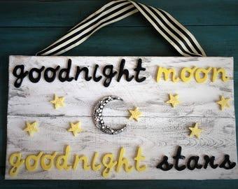 Ceramic Goodnight Moon Goodnight Stars Sign