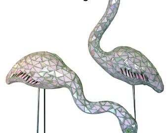 Mosaic Flamingo Pair