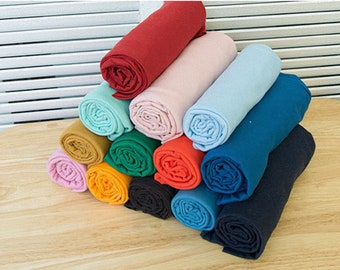 Cotton Jersey Knit, Stretchy Fabric - 13 Solid Colors - By the Yard 104327