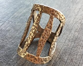 Big silver ring, boho silver ring, big modern silver ring