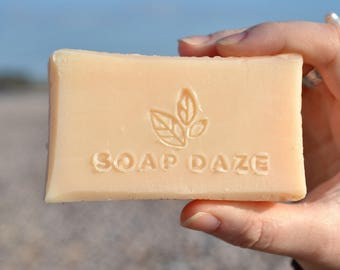 Unwrapped Handmade Lemongrass & Patchouli Soap, natural soap, large soap, vegan soap