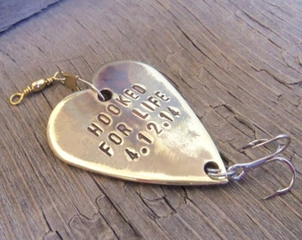 Groom Gift for Husband Fishing Lure Gift for Man Custom Gift Fishing Gift Personalized Small Gift Gift under 35 Gift under 40 Gift under 50