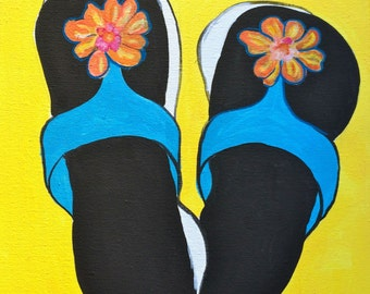 Andy Warhol Sandal with a Twist on etsy